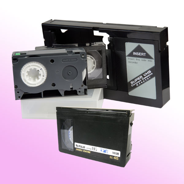 VHS-C Video Tapes and Converter